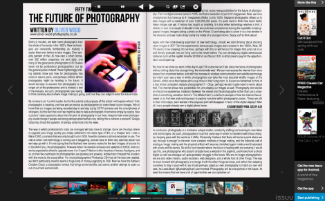 The article as appears in #Photography Magazine's March 2014 Edition.